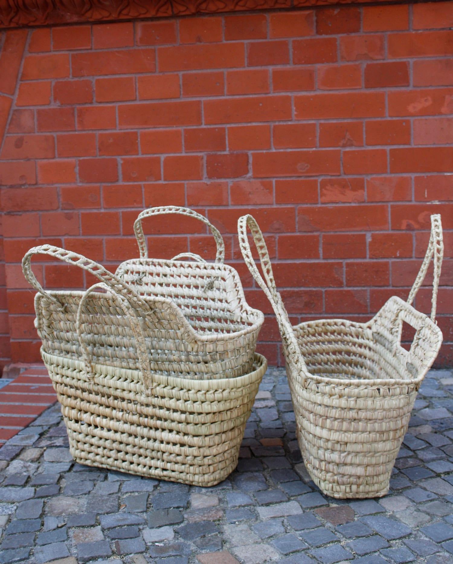 Shopper, korbtasche, drei Varianten